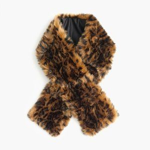 NEW Leopard faux-fur stole